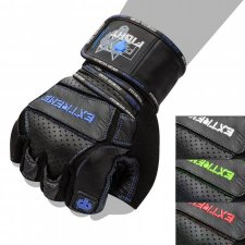 FOX-FIGHT EXTREME BLUE Fitness- Kraftsporthandschuhe aus...