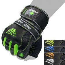 FOX-FIGHT PRO WRIST GREEN Fitness- Kraftsporthandschuhe aus echtem Leder M - green