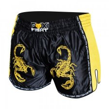 FOX-FIGHT SCORPION Thai Shorts aus Satin