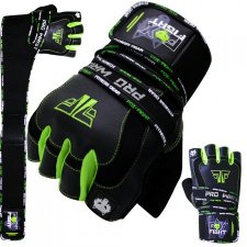 FOX-FIGHT PRO WRIST GREEN Fitness- Kraftsporthandschuhe...