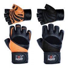 FOX-FIGHT PROFESSIONAL Fitness- Kraftsporthandschuhe aus...