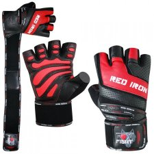 FOX-FIGHT RED IRON Fitness- Kraftsporthandschuhe aus echtem Leder