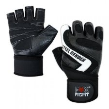FOX-FIGHT STEEL BENDER Fitness- Kraftsporthandschuhe aus...