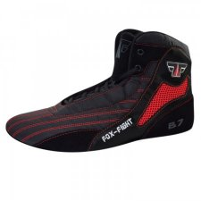 FOX-FIGHT B7 Sambo Schuhe aus echtem Leder BLACK/RED